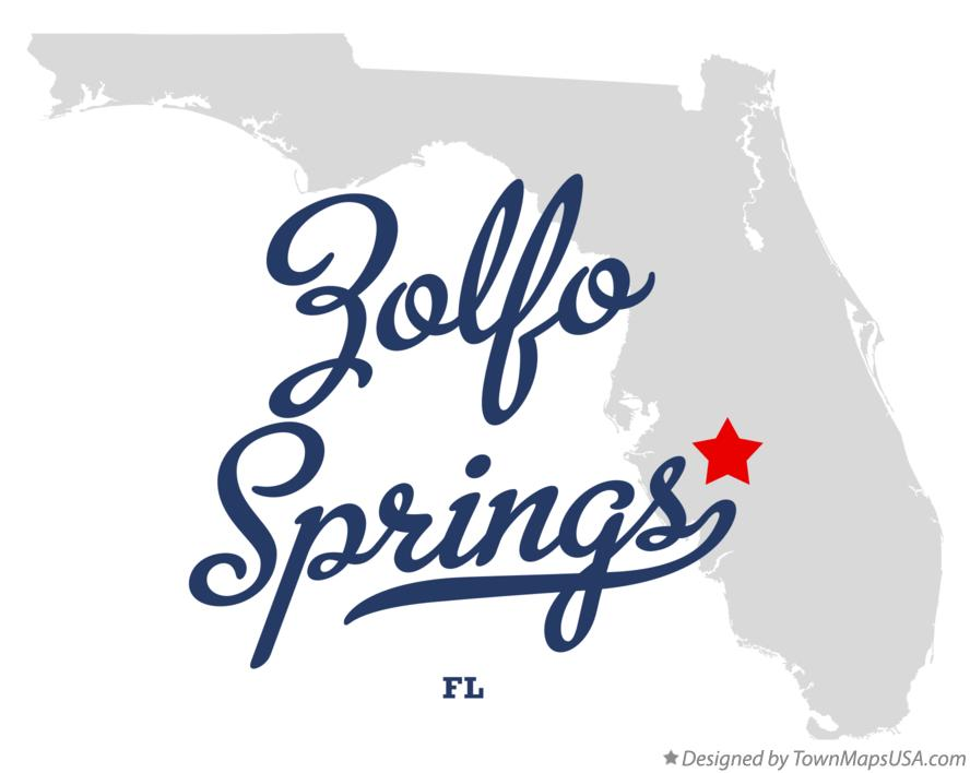Map of Zolfo Springs Florida FL