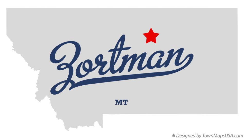 Map of Zortman Montana MT