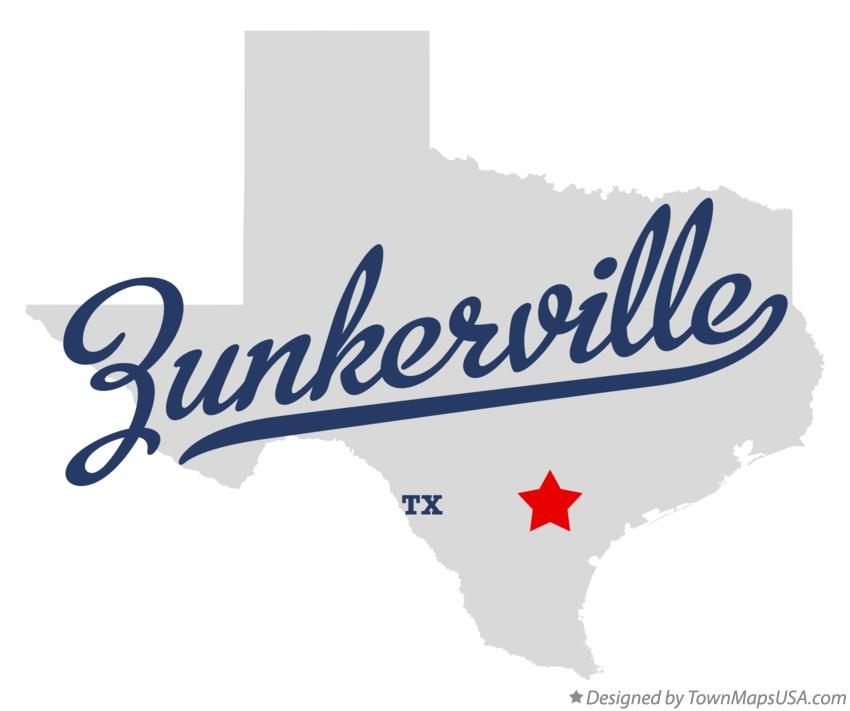 Map of Zunkerville Texas TX