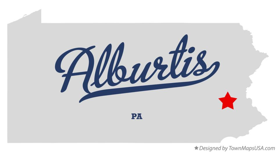 Map of Alburtis Pennsylvania PA