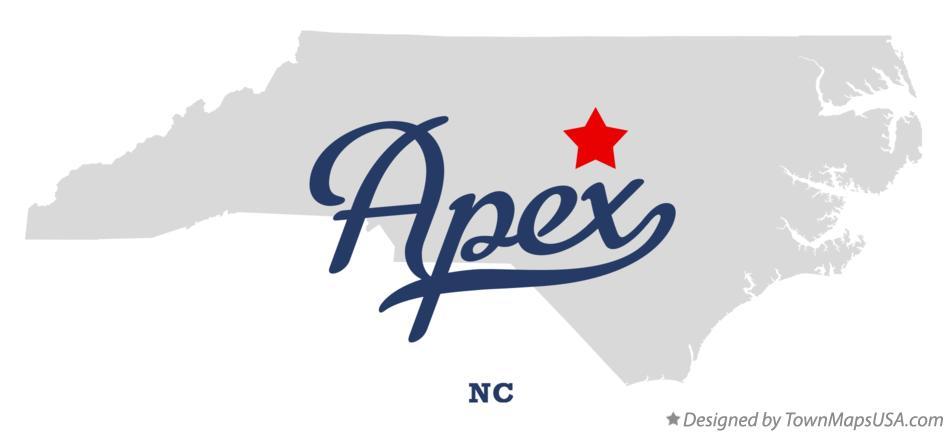 Apex Nc Map Map of Apex, NC, North Carolina Apex Nc Map