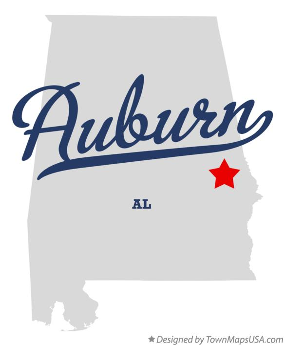 Auburn Alabama Map Map of Auburn, AL, Alabama Auburn Alabama Map