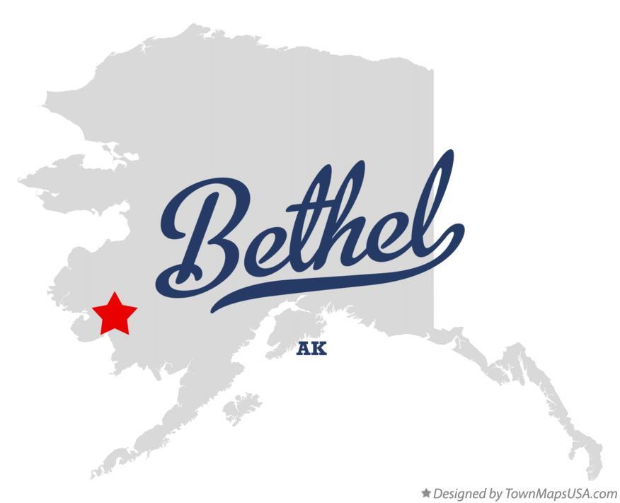 Bethel Alaska Map Map of Bethel, AK, Alaska