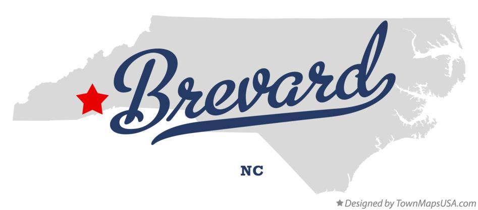 Brevard Nc Map Map of Brevard, NC, North Carolina Brevard Nc Map