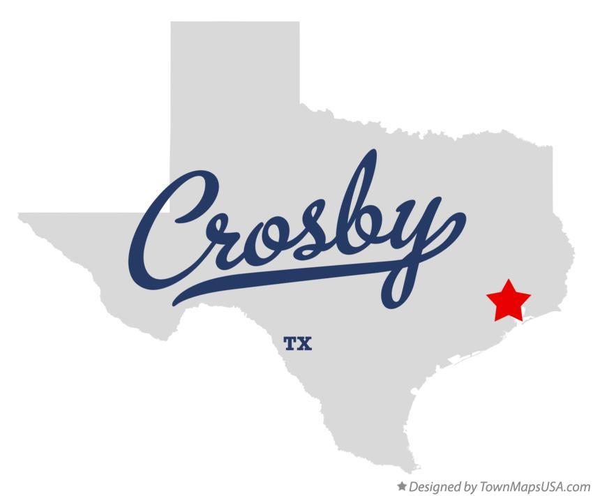 Map of Crosby, TX, Texas