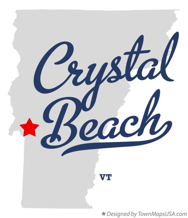 Map Of Crystal Beach Vermont Vt