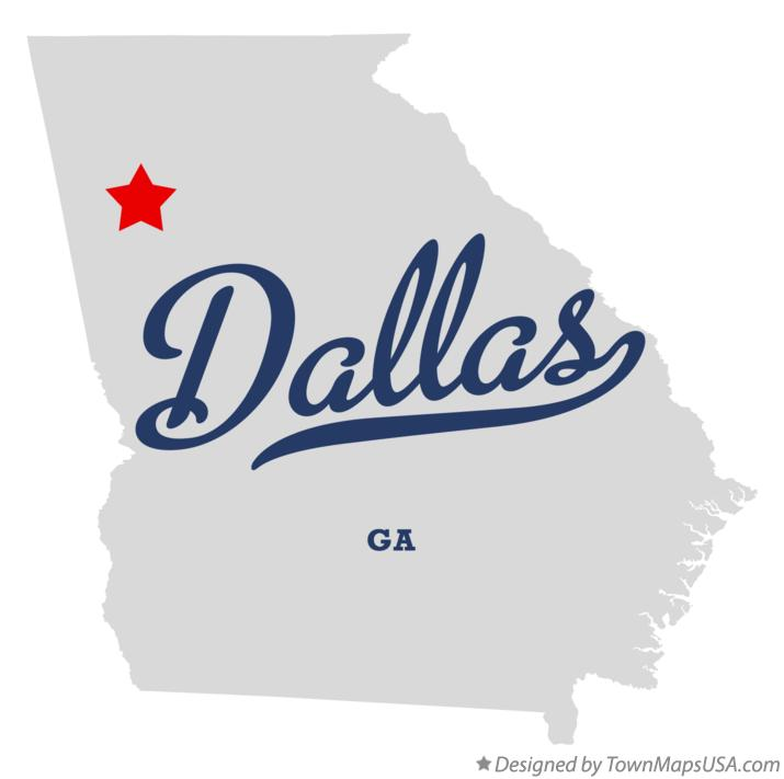 Dallas Ga Map Map of Dallas, GA, Georgia