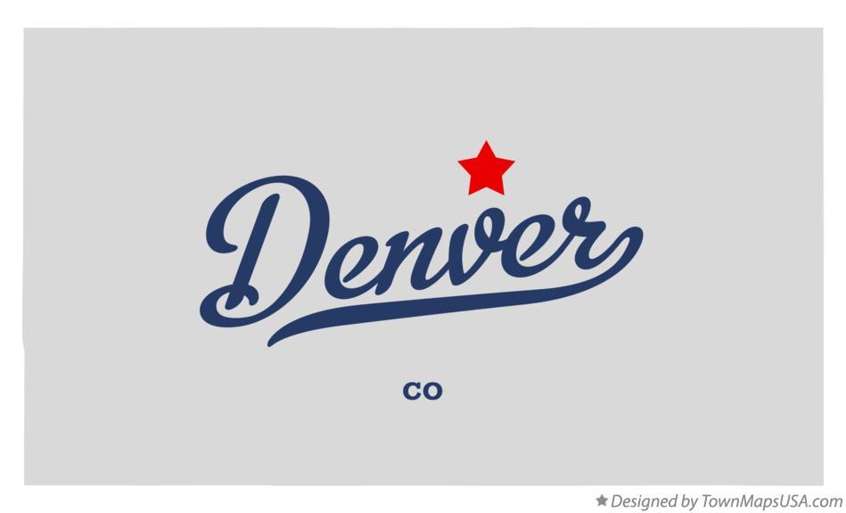 Denver Co Map Map of Denver, CO, Colorado Denver Co Map