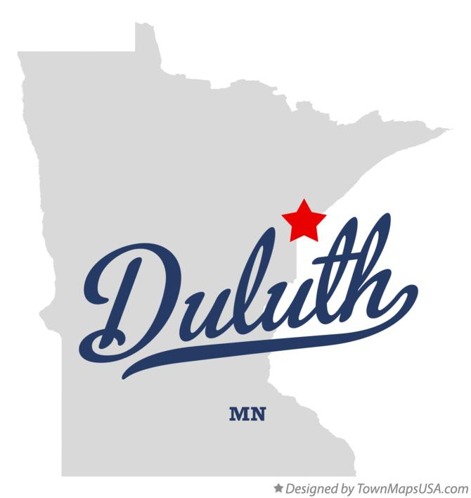 Duluth Mn Map Map of Duluth, MN, Minnesota