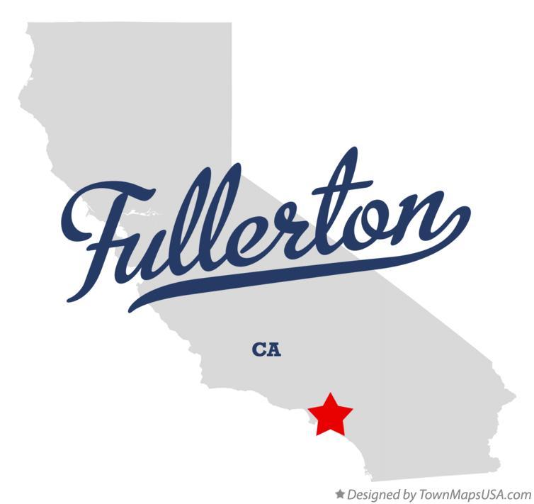 Fullerton California Map Map of Fullerton, CA, California Fullerton California Map