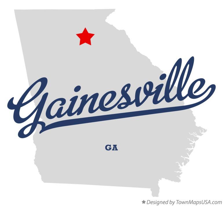 Gainesville Ga Map Map of Gainesville, GA, Georgia Gainesville Ga Map