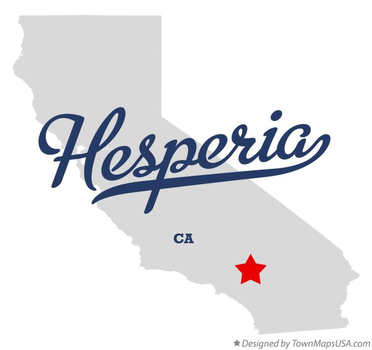 Hesperia California Map Map of Hesperia, CA, California Hesperia California Map