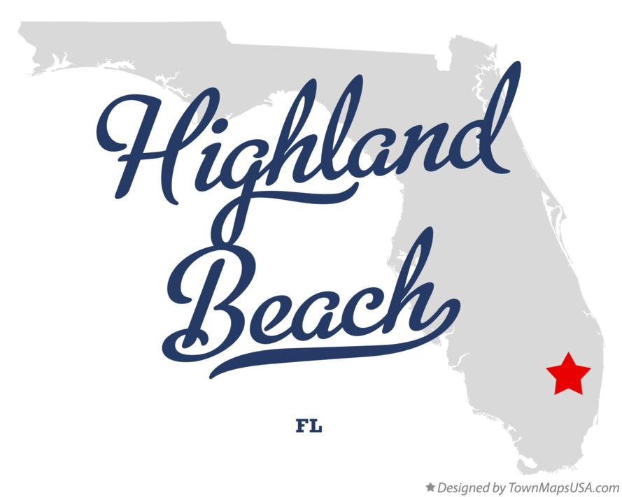 Map Of Highland Beach Florida Fl