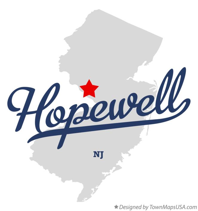 Hopewell Nj Map Map of Hopewell, Mercer County, NJ, New Jersey