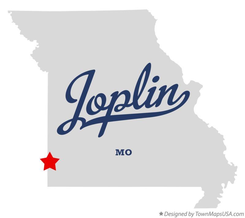 Joplin Missouri Map Map of Joplin, MO, Missouri