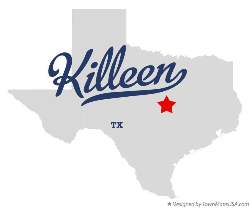 Killeen Texas Map Map of Killeen, TX, Texas