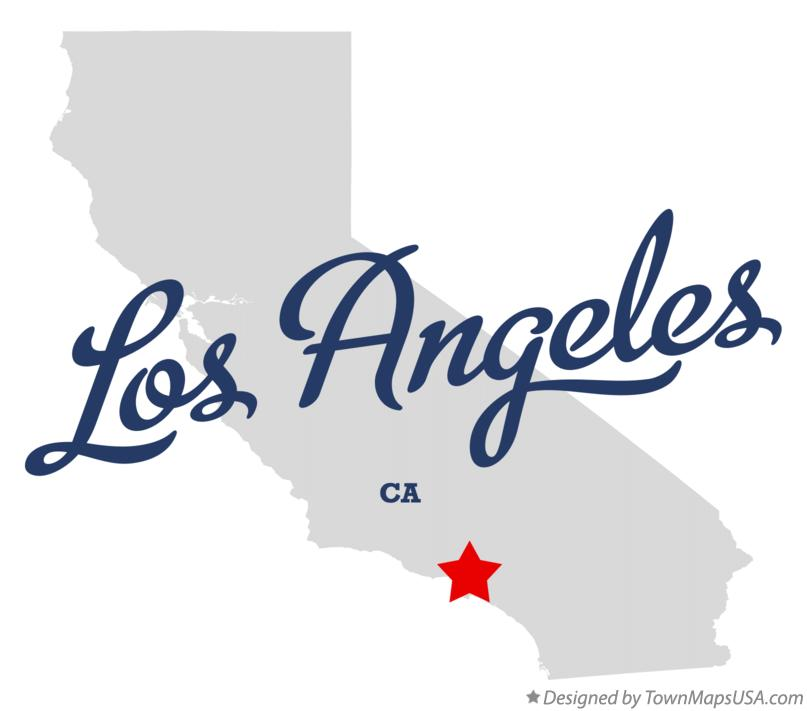 Los Angeles Ca Map Map of Los Angeles, CA, California