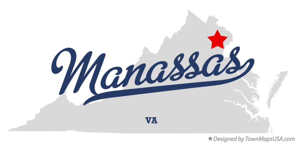 Manassas Va Map Map of Manassas, VA, Virginia Manassas Va Map