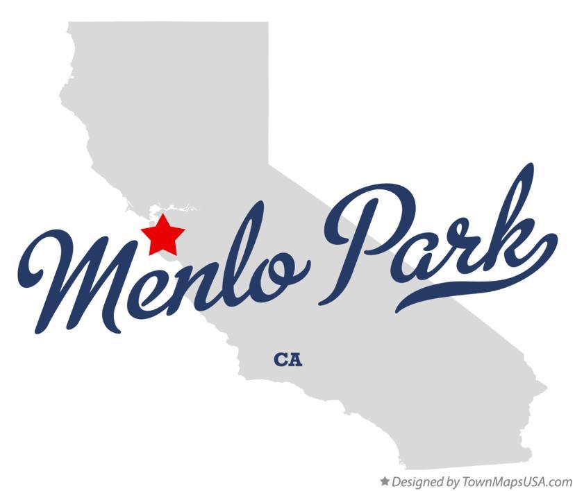 Menlo Park California Map Map of Menlo Park, CA, California