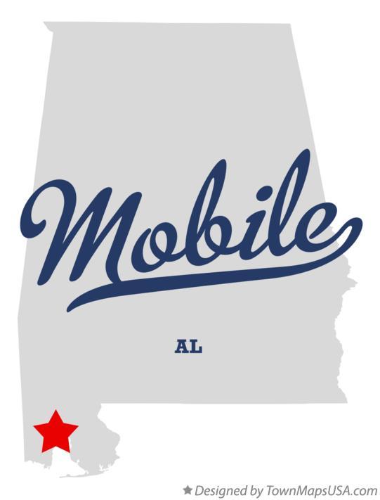 Mobile Al Map Map of Mobile, AL, Alabama