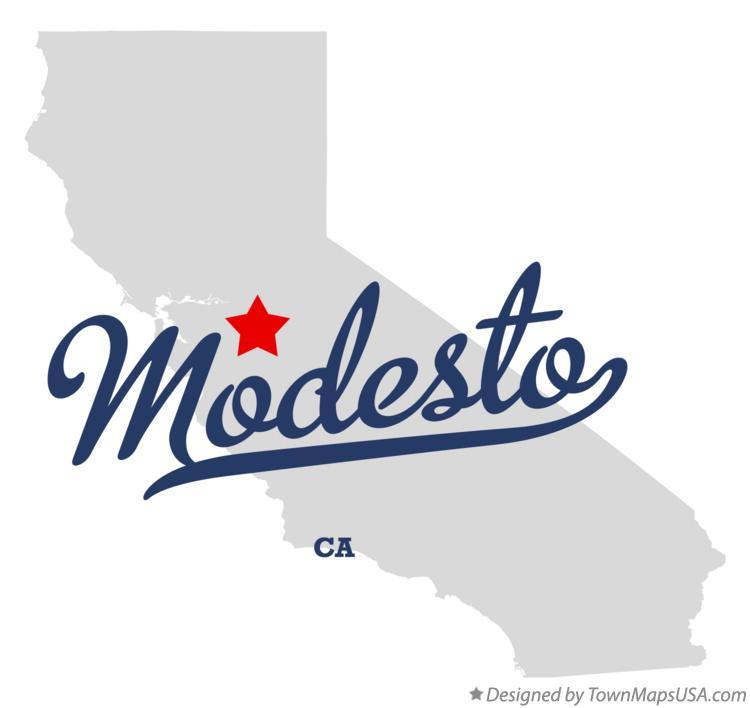 Map Of Modesto Ca Map of Modesto, CA, California Map Of Modesto Ca