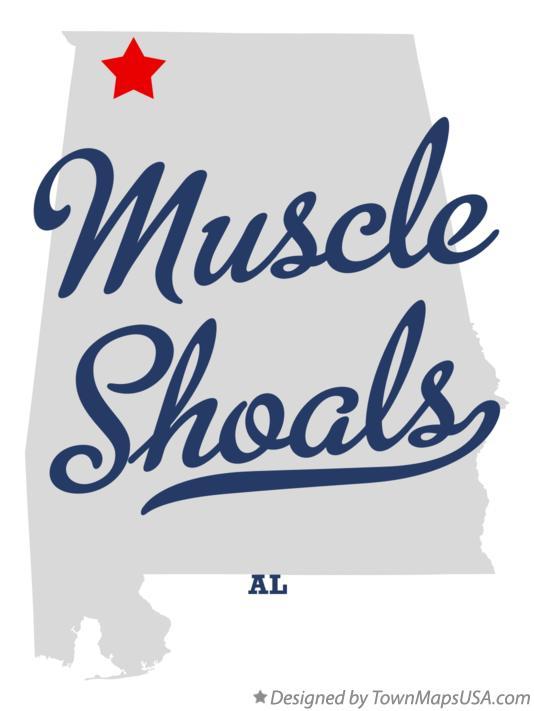 Muscle Shoals Alabama Map Map of Muscle Shoals, AL, Alabama