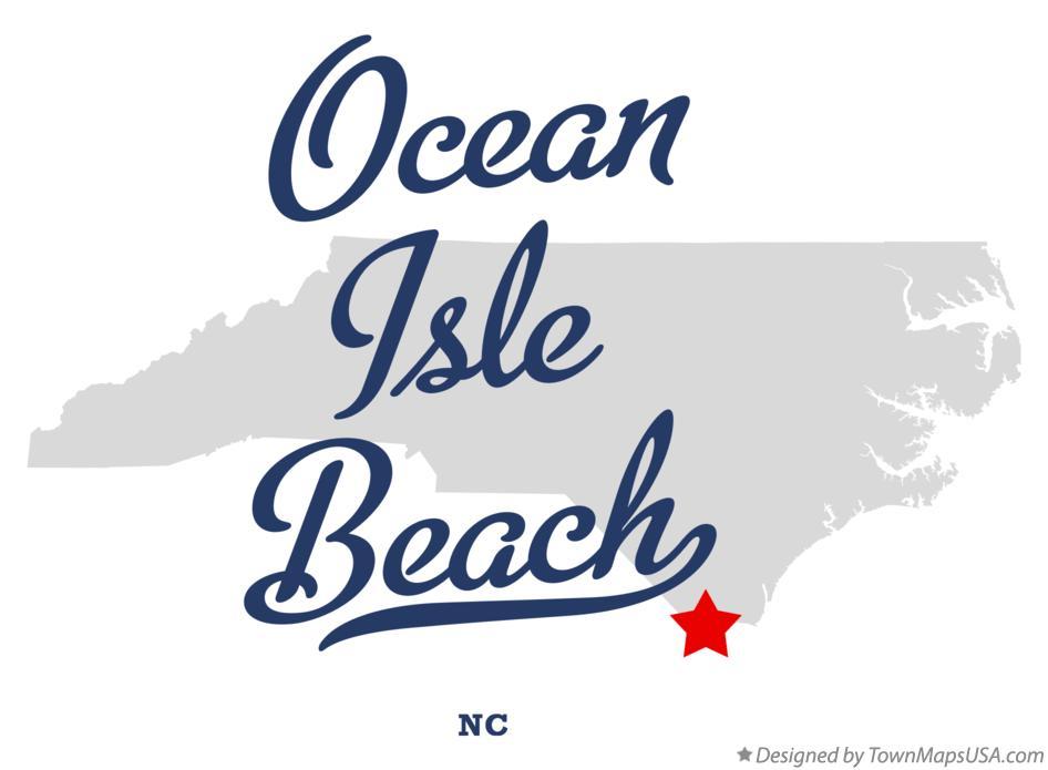 Map Of Ocean Isle Beach North Carolina Nc