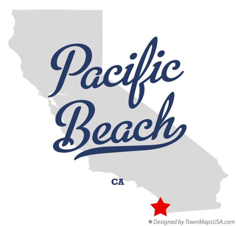 Map Of Pacific Beach California Ca
