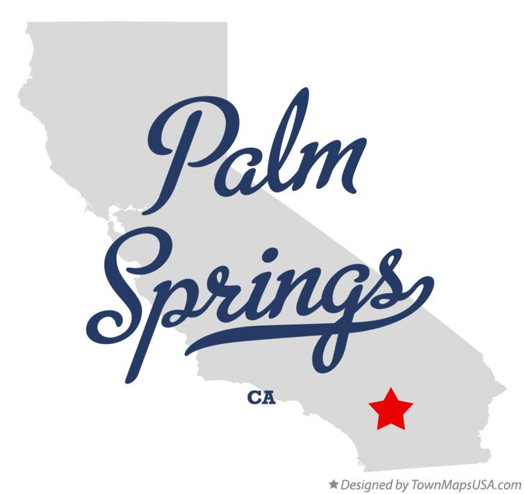 Palm Springs Ca Map Map of Palm Springs, CA, California