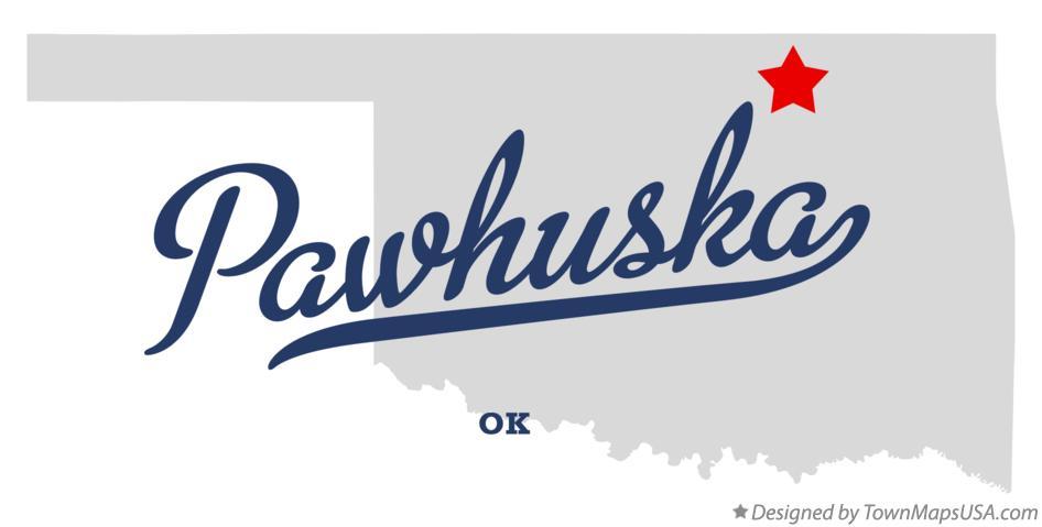 Pawhuska Ok Map Map of Pawhuska, OK, Oklahoma Pawhuska Ok Map