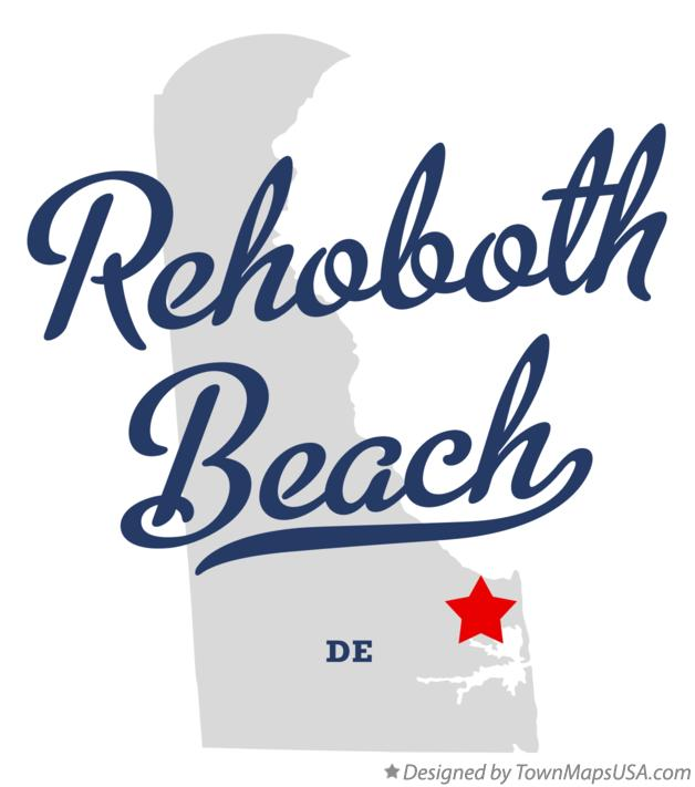 Map Of Rehoboth Beach Delaware De