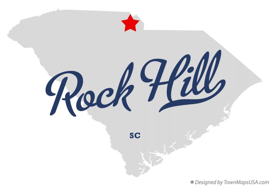 Rock Hill Sc Map Map of Rock Hill, York County, SC, South Carolina Rock Hill Sc Map