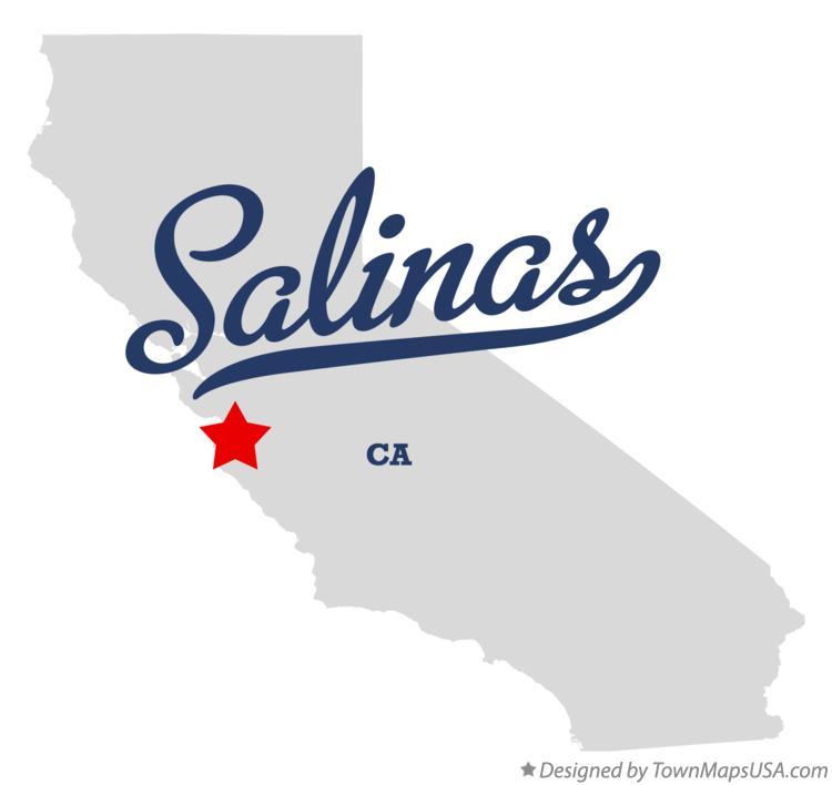 Salinas California Map Map of Salinas, CA, California Salinas California Map