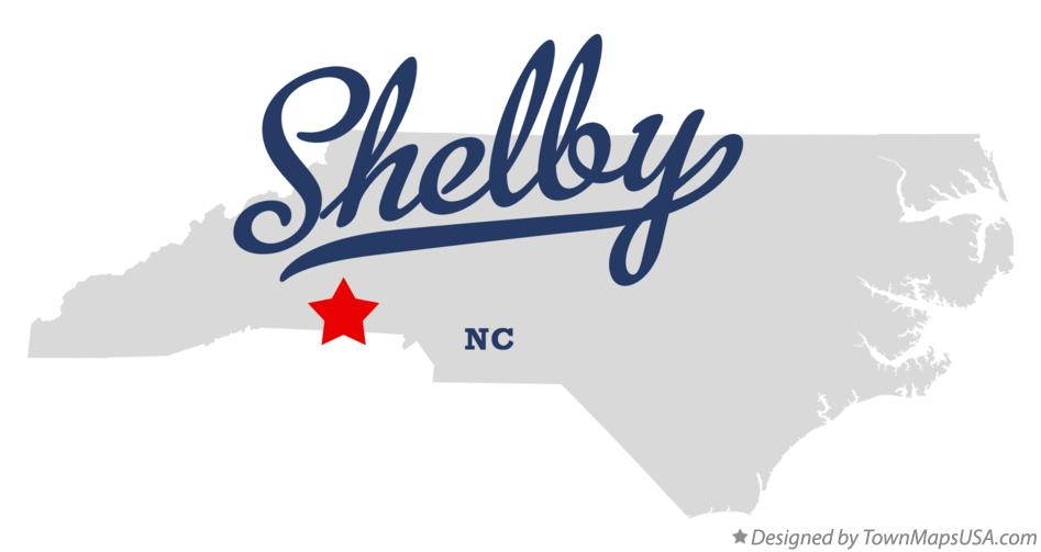 Shelby Nc Map Map of Shelby, NC, North Carolina
