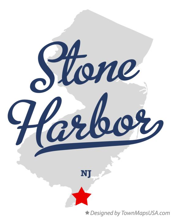Map of Stone Harbor New Jersey NJ
