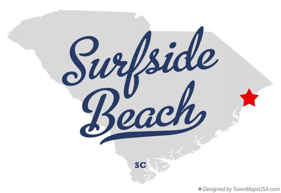 Map Of Surfside Beach Sc South Carolina