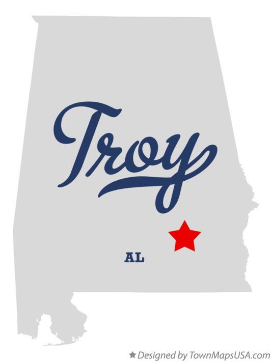 Troy Alabama Map Map of Troy, AL, Alabama