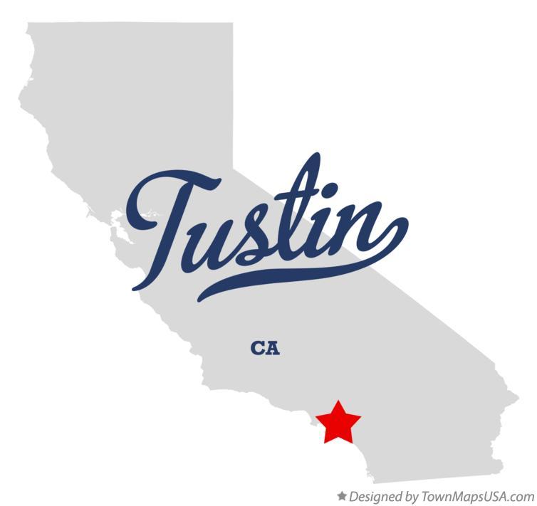 Tustin Ca Map Map of Tustin, CA, California Tustin Ca Map