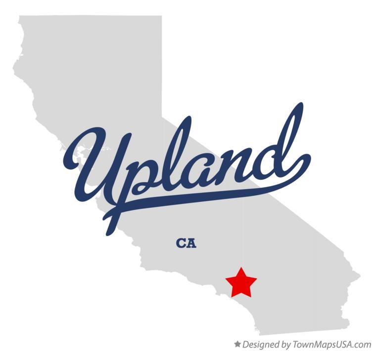 Upland California Map Map of Upland, CA, California