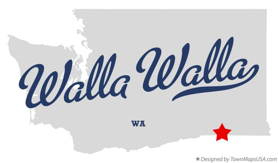 Walla Walla Washington Map Map of Walla Walla, WA, Washington Walla Walla Washington Map