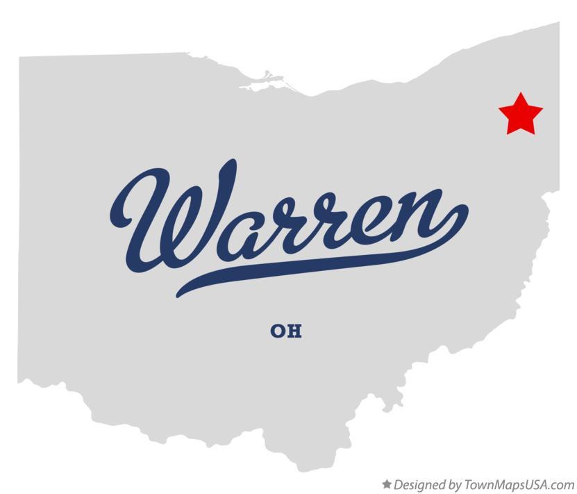 Warren Ohio Map Map of Warren, Trumbull County, OH, Ohio