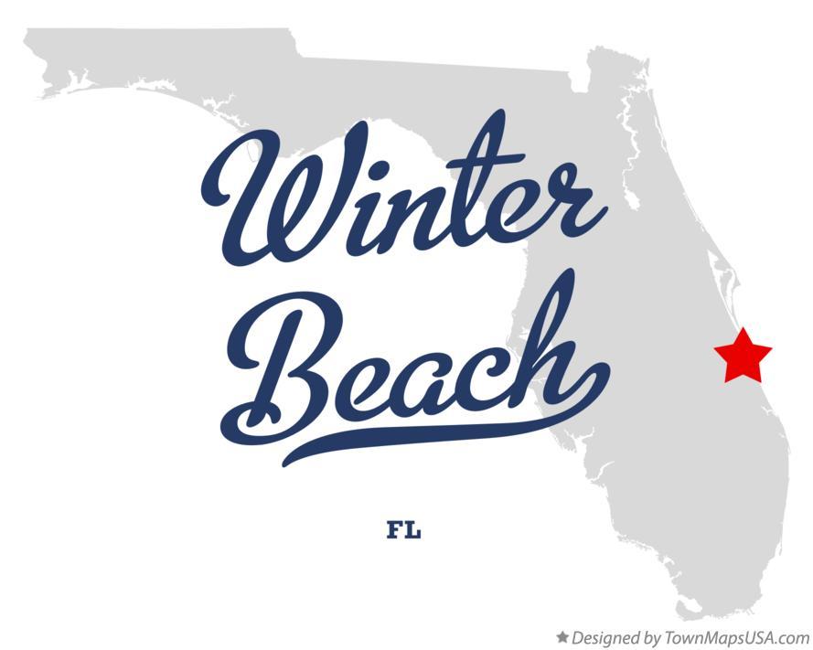 Map Of Winter Beach Florida Fl